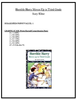 Comprehension Test - Horrible Harry Moves Up to Third Grade (Kline)