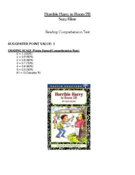 Comprehension Test - Horrible Harry in Room 2B (Kline)