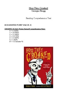 Comprehension Test - How They Croaked (Bragg)