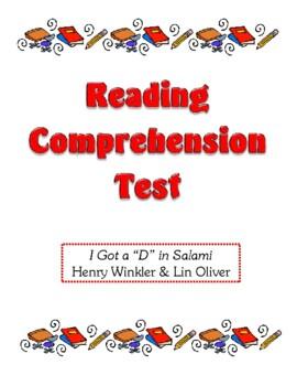Comprehension Test - I Got a D in Salami (Winkler/Oliver)