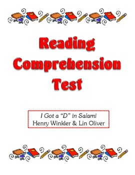 Comprehension Test - I Got a D in Salami (Winkler/Oliver)