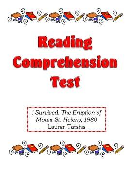 Comprehension Test - I Survived: The Eruption of Mount St.