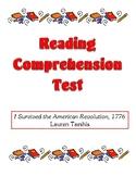 Comprehension Test - I Survived the American Revolution 17