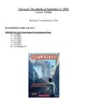 Comprehension Test - I Survived the Attacks of September 1