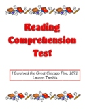 Comprehension Test - I Survived the Great Chicago Fire, 1871 (Tarshis)