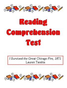 Comprehension Test - I Survived the Great Chicago Fire, 18