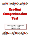Comprehension Test - I Survived the Hindenburg Disaster, 1937 (Tarshis)