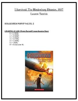 Comprehension Test - I Survived the Hindenburg Disaster, 1937 (Tarshis)
