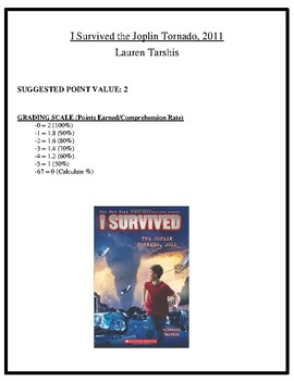 Comprehension Test - I Survived the Joplin Tornado, 2011 (Tarshis)