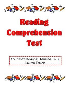 Comprehension Test - I Survived the Joplin Tornado, 2011 (