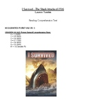 Comprehension Test - I Survived the Shark Attacks of 1916 (Tarshis)