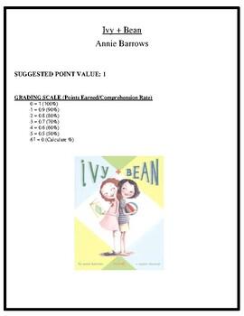 Comprehension Test - Ivy + Bean (Barrows)