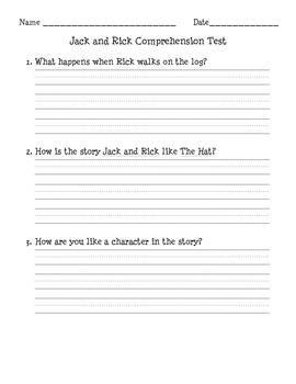 Comprehension Test - Jack and Rick