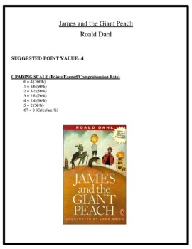Comprehension Test - James and the Giant Peach (Dahl)