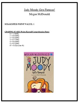 Comprehension Test - Judy Moody Gets Famous! (McDonald)