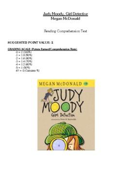 Comprehension Test - Judy Moody, Girl Detective (McDonald)