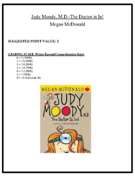 Comprehension Test - Judy Moody, M.D.-The Doctor is In! (McDonald)