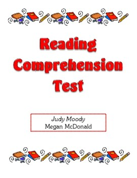 Comprehension Test - Judy Moody (McDonald)