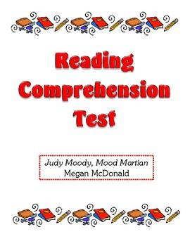 Comprehension Test - Judy Moody, Mood Martian (McDonald)