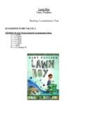 Comprehension Test - Lawn Boy (Paulsen)
