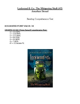 Comprehension Test - Lockwood & Co.: The Whispering Skull (Stroud)