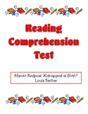 Comprehension Test - Marvin Redpost: Kidnapped at Birth (Sachar)