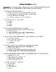 Comprehension Test - Masters of Disaster (Paulsen)