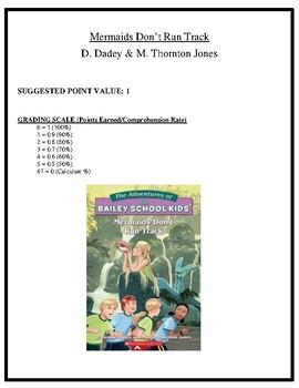 Comprehension Test - Mermaids Don't Run Track (Dadey/Thornton Jones)