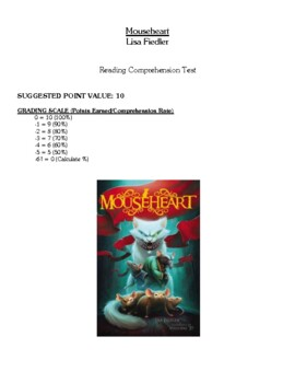 Comprehension Test - Mouseheart (Fiedler)