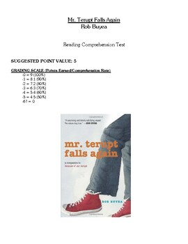 Comprehension Test - Mr. Terupt Falls Again (Buyea)