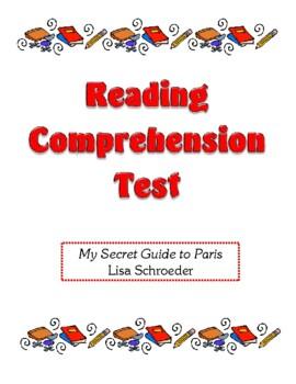 Comprehension Test - My Secret Guide to Paris (Schroeder)