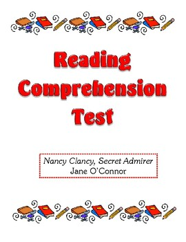 Comprehension Test - Nancy Clancy, Secret Admirer (O'Connor)