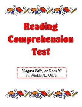Comprehension Test - Niagara Falls, or Does It? (Winker/Oliver)