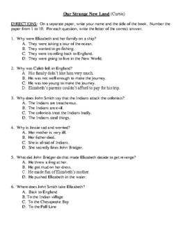 Comprehension Test - Our Strange New Land (Hermes)