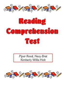 Comprehension Test - Piper Reed, Navy Brat (Holt)