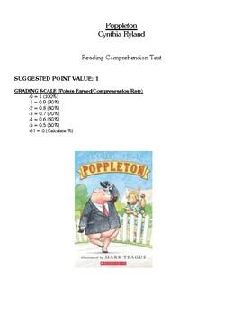 Comprehension Test - Poppleton (Rylant)