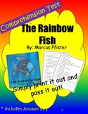 Comprehension Test: Rainbow Fish - First or Second Grade