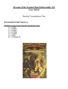 Comprehension Test - Revenge of the Scorpion King (Abbott)
