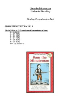 Comprehension Test - Sam the Minuteman (Benchley)