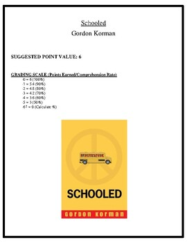 Comprehension Test - Schooled (Korman)