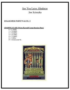 Comprehension Test - See You Later, Gladiator (Scieszka)