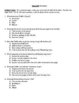 Comprehension Test - Showoff (Korman)