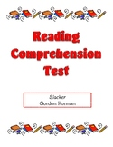 Comprehension Test - Slacker (Korman)