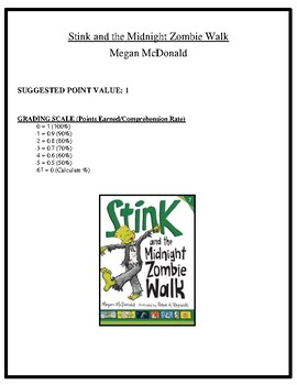 Comprehension Test - Stink and the Midnight Zombie Walk (McDonald)