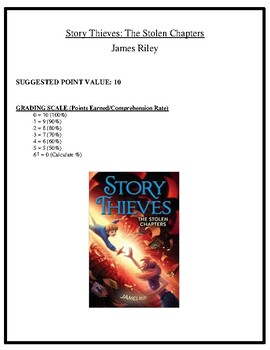 Comprehension Test - Story Thieves: The Stolen Chapters (Riley)