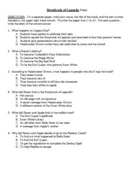 Comprehension Test - Storybook of Legends (Hale)
