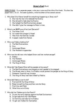 Comprehension Test - Story's End (Burt)