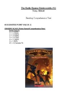 Comprehension Test - The Battle Begins (Abbott)