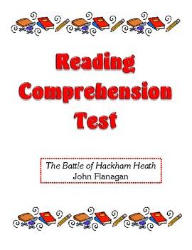Comprehension Test - The Battle of Hackham Heath (Flanagan)