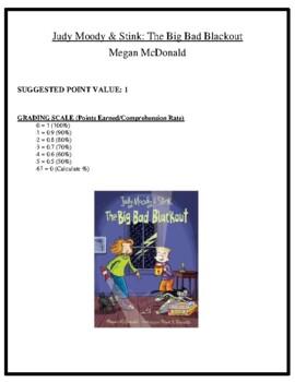 Comprehension Test - The Big Bad Blackout (McDonald)